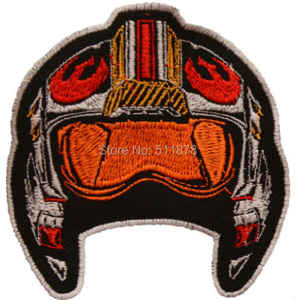 X Wing Pilot Helmet Embroidered Patch Star Wars Darth Vader Rebel Luke Skywalker Movie TV Series