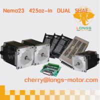 Ship From German Warehouse 3Axis Nema 23 dual shaft stepper motor 23HS9430B425oz.in 3.0A & stepper motor driver DM542A for CNC