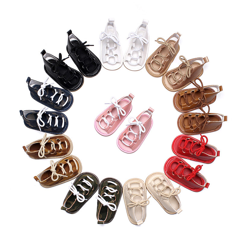 New Baby Moccasins Soft Lace-up Baby Shoes Summer Chaussure Newbron Baby Boys Girls Toddler Shoes Footwear