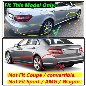 Image 4 - Mud Flaps For Benz E Class W212 E300 E350 E550 E500 E280 E200 2008   2013 Splash Guards Mudguards Front Rear 2009 2010 2011 2012