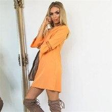 2018 Olhos Casual O Pescoço Solto Vestidos Do Laço Da Forma Verão Mulheres Oversize Sólida Mini Vestidos