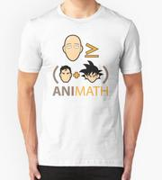 Men T Shirts Anime One Punch Man AniMath Printed 100 180g Combed Cotton Casual Tee Short