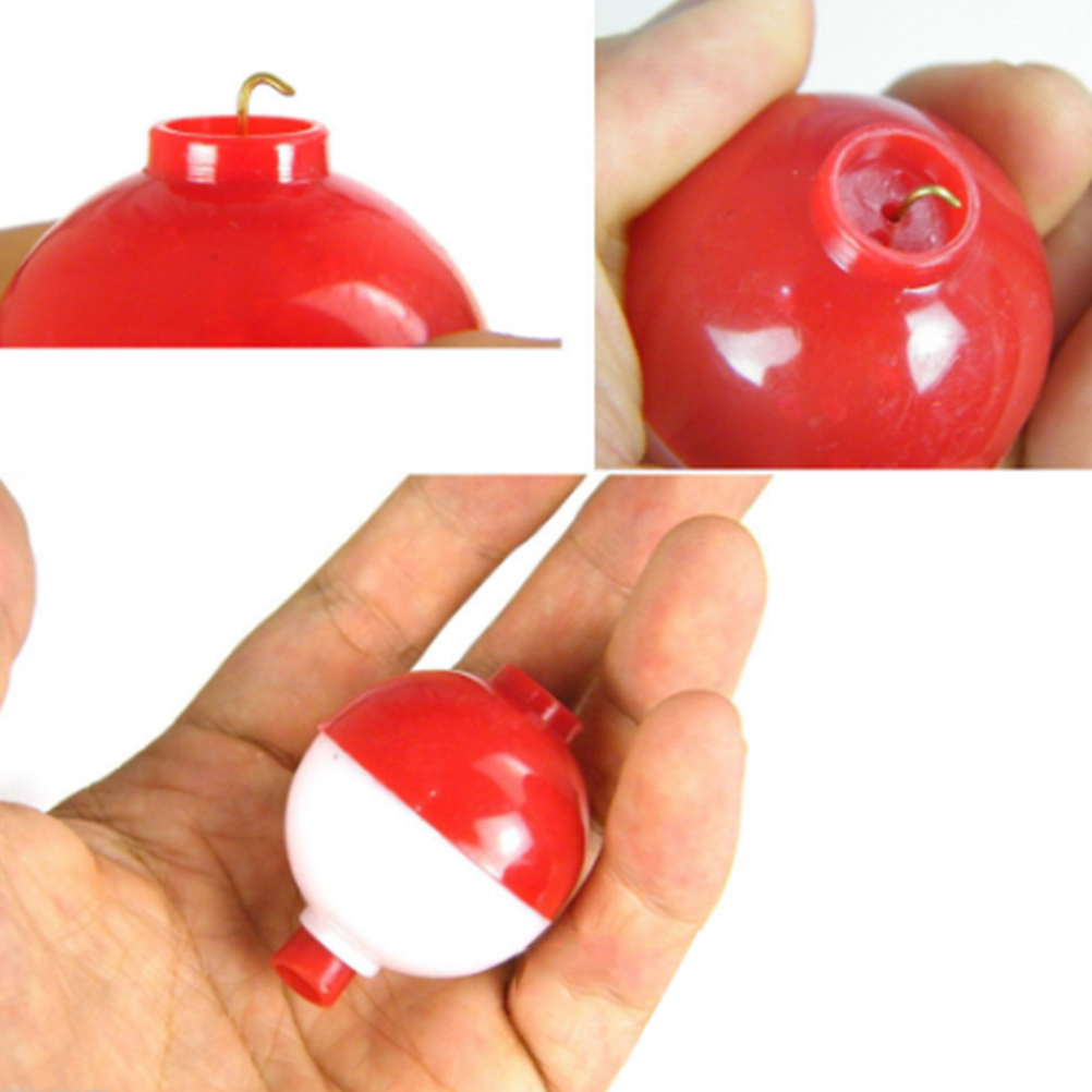 15pcs lot 1 Inch Size Fishing Bobber Buoy Float Sea Fishing Floats Plastic Floats for Fishing Vissen Dobbers Red and White in Fishing Float from Sports Entertainment