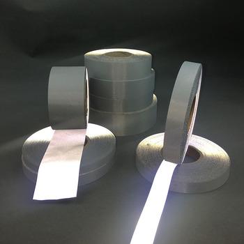 100 m rolka wysokiej widoczności refleksyjnej taśmy tkanina do szycia DIY odbicie pasek taśma ostrzegawcza (bez lepkość) do odzieży tanie i dobre opinie TP100