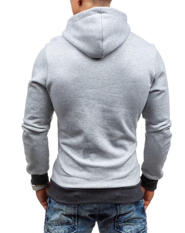 HEYKESON Brand 2017 Hoodie Oblique Zipper Solid Color Hoodies Men Fashion Tracksuit Male Sweatshirt Hoody Mens Purpose Tour XXL HEYKESON Brand 2017 Hoodies, with an chest Zipper HTB1IJ uSFXXXXc2XVXXq6xXFXXXB
