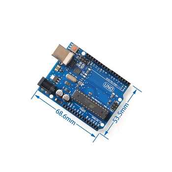 5set/lot UNO R3 for arduino MEGA328P ATMEGA16U2 1PCS UNO R3 + 1PCS cable