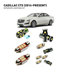 Led interior lights For Cadillac cts 2014+ 16pc Led Lights For Cars lighting kit automotive bulbs Canbus Error Free 16pc x canbus error free led lamp interior light kit package for audi a7 s7 rs7 c7 quattro sedan sportback 2011