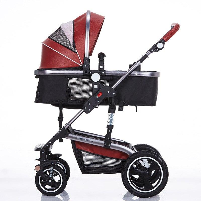 Wózek składany Bedora Wózek skórzany Wózek spacerowy o wysokich - Aktywność i sprzęt dla dzieci - Zdjęcie 3