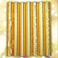 Klasyczny nowy srebrny złoty wall paper papier folia PCV tapety zmywalne dachu Metalu wiredrawing ziarna Sitting room bar restauracja