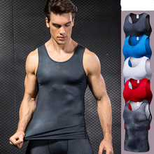 2019 new regatta compression shirt mens fitness clothing bodybuilding breathable vest casual