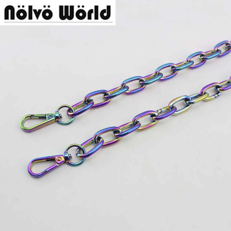 60cm-130cm NEW Fashion Rainbow Chain,BIG Chain For Shoulder Bags Handbag Handle DIY Iridescent Rainbow Chain For Bag Hardware