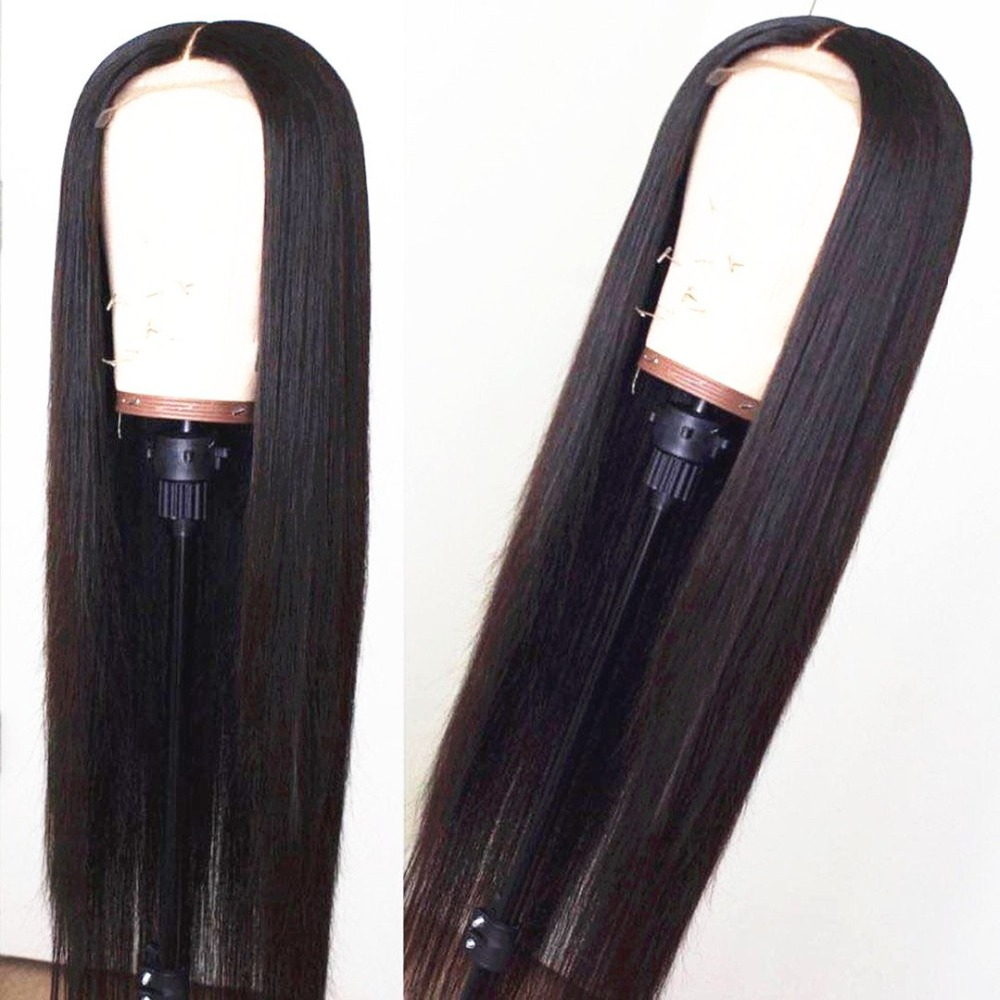 360 Lace Frontal Human Hair Wigs For Women Pre Plucked 150% Density Remy Brazilian Straight Lace Frontal Hair Wig Bleached Knots-in Human Hair Lace Wigs from Hair Extensions & Wigs    1