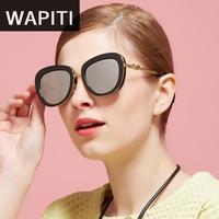 Wapiti Escudo de Aleación de Mujeres de La Manera gafas de Sol de Colores Del Color Del Caramelo Transparente Dom Vidrio Gafas De Sol Feminino Quadrado FSK311
