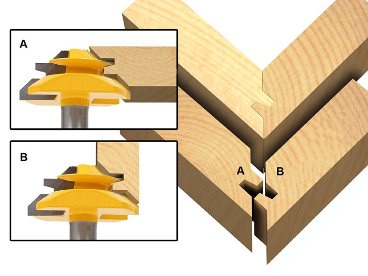 Купить с кэшбэком Woodworking machine 45 degree mortise and tenon joint turning tool YG6X tungsten alloy Milling CNC cutter wood 1/2*1-3/8