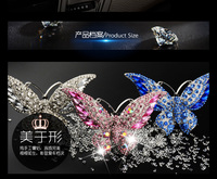 Crystal Butterfly Car Outlet Vent Air Conditioning Fresheners Perfume Diffuser Car Interior Decoration Car Accessories