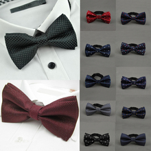 Hot 1 PC Mulit Male Fashion Popular Colorful Classic Adjustable Dots Gravata Bow Tie Wedding Party