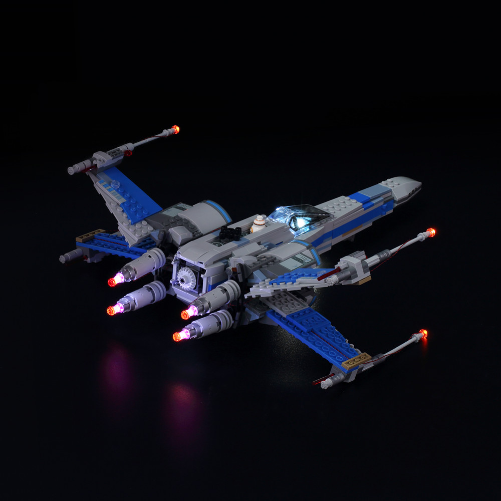 Kyglaring LED Light Up Kit For Blocks Star Wars Poe's X Wing Fighter Building Block Light Set Compatible With Lego 75102