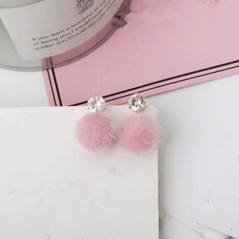 Новые Ювелирные Изделия Простые осенние и зимние пушистые короткие персонализированные набор сладких и красивых сережек