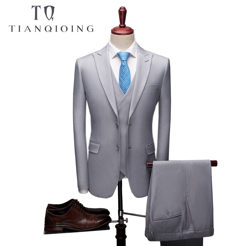 2018 New High Quality Mens Brand Suits Wedding Groom Good Quality Business Casual Male Suits 3 Peiece (jacket+pant+vest)