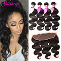 Full Frontal Lace Closure 13x4 Malaysian Body Wave With Closure Malaysian Hair Weave Lace Frontal Closure With Bundles Body Wave
