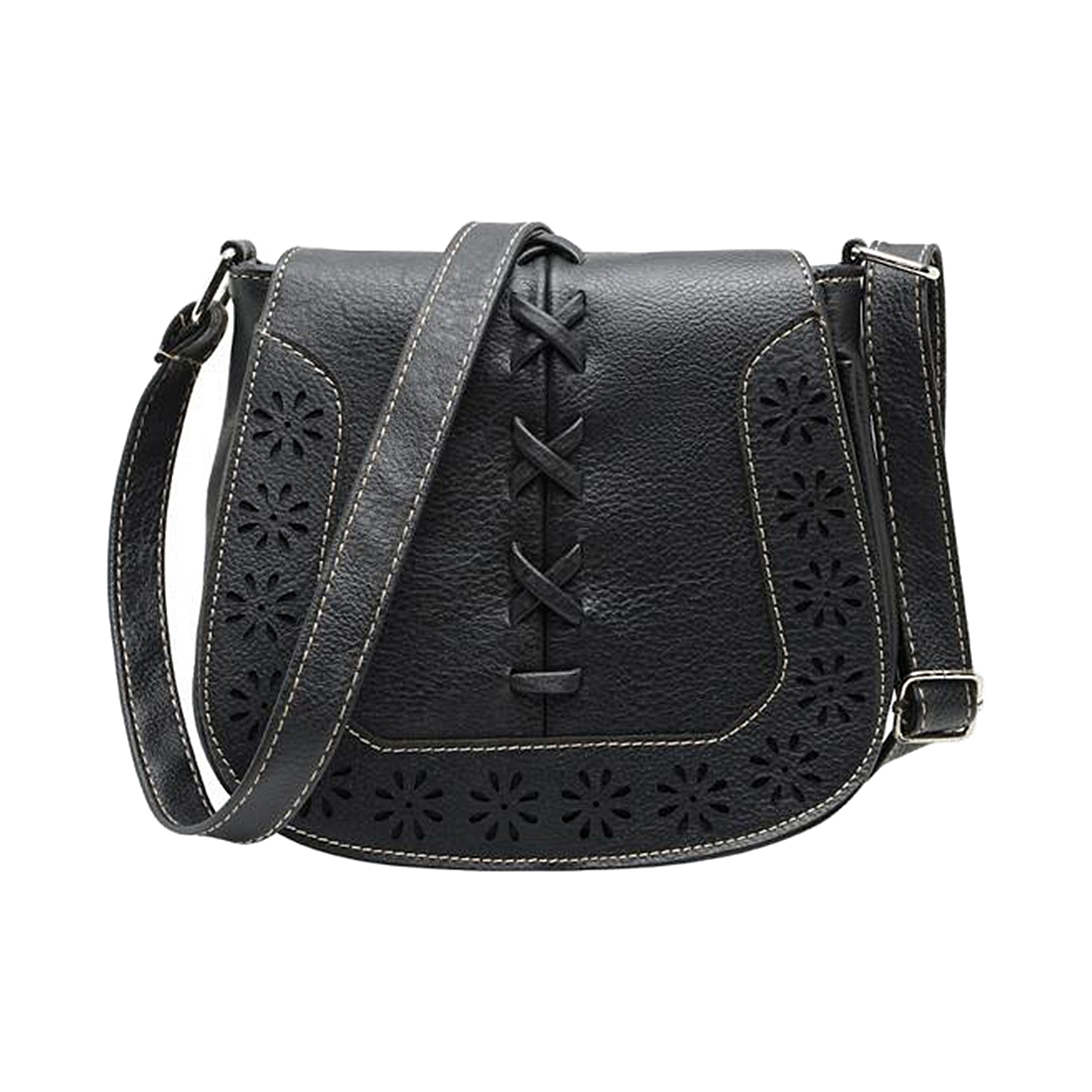 FGGS Hot Fashion Women Leather Handbags Retro Hollow Out Crossbody Shoulder Bag Hollow Out Lady Vintage Bag bags Black europe style hollow out handbags women pu leather crossbody shoulder bag