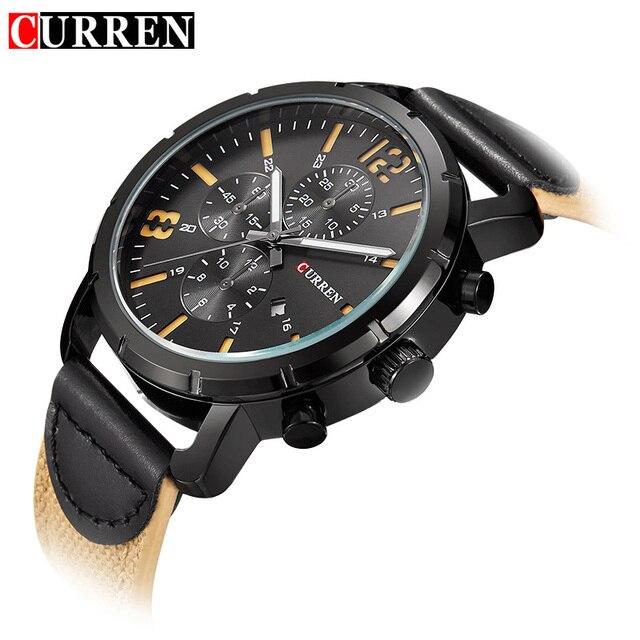 9b863f4ee30 Relógio Do Esporte militar Assista Men CURREN Marca Relógios Relógio de  Quartzo Com Data de Montanhismo