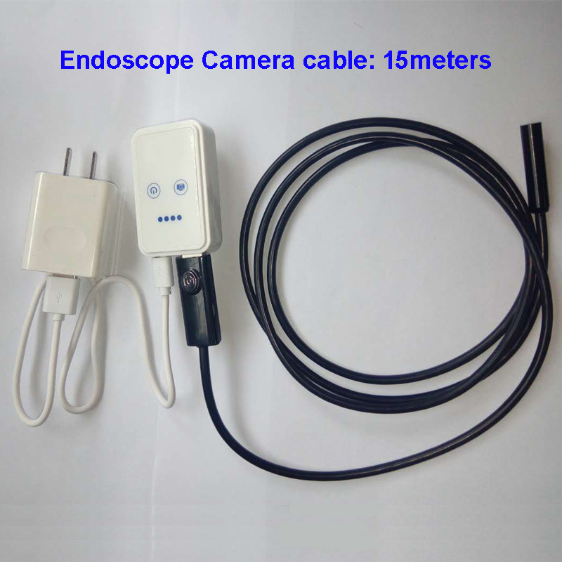 WE915 15.0Meters Waterproof USB Wired Endoscope Inspection Camera with WIFI Box for Smart Phone Wireless Connection LED Light