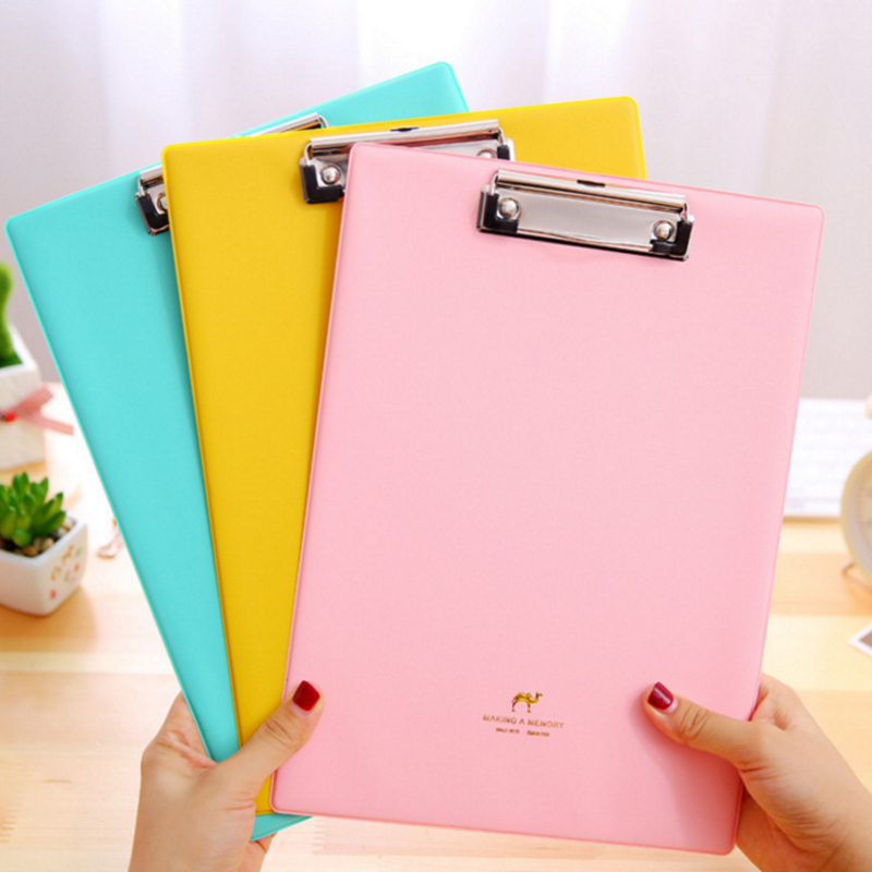 Candy Color Clipboards A4 Notes Folder Write Sub-plate WordPad Stationery Clip File Paper File Folder Holder School Supplies candy color clipboards a4 notes folder write sub plate wordpad stationery clip file paper file folder holder school supplies
