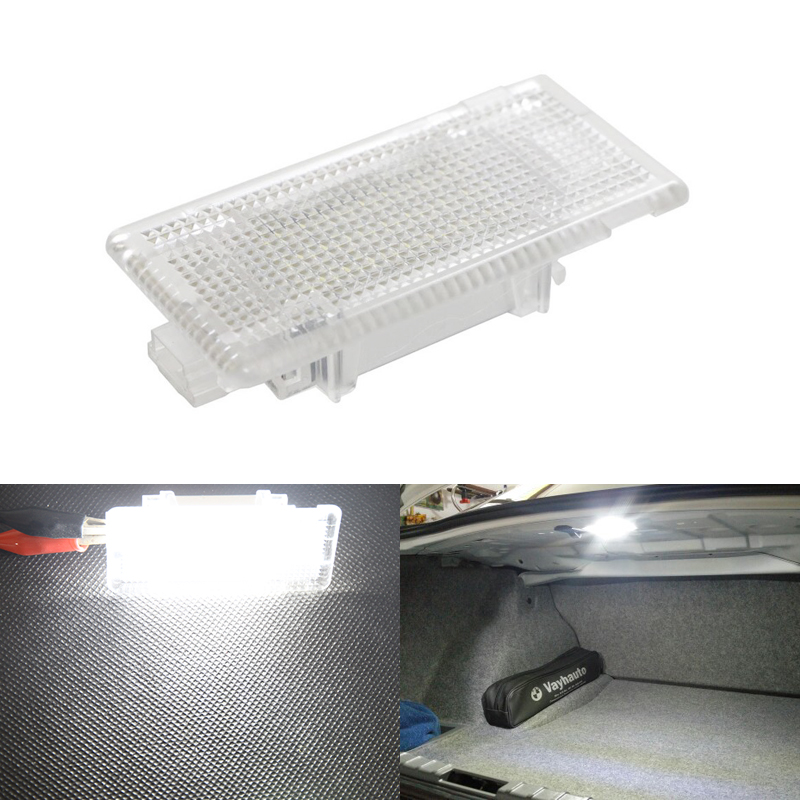 24 Led Interior Light Footwell Luggage Trunk Boot Glove Box Lamp White For BMW E90 E92 E66 E61 E39 E60 E38 Car-Styling for volkswagen passat b6 b7 b8 led interior boot trunk luggage compartment light bulb