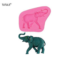 Gadgets - Elephant Flexible Silicone Mold for Polymer Clay Resin Soap Wax Plaster Paper, Metal Cabochons, Jewelry-Mold(China)