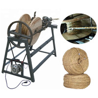 Baixo preço fiação corda que faz a máquina da corda da grama de palha máquina de tricô