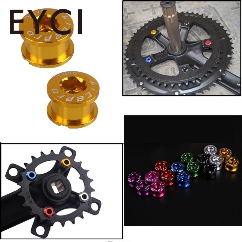 5pcs Cycling CNC Aluminum Single Crank Chain Ring Bolt Fit for Bicycle