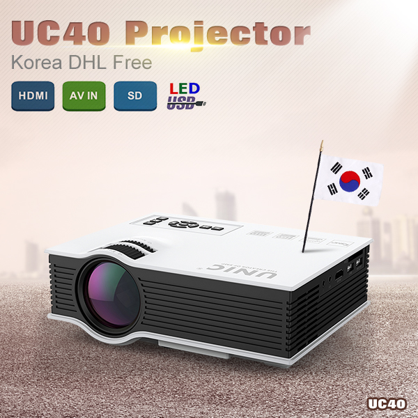 Gift Korean Original UNIC UC40 Mini Pico portable 3D Projector HDMI Home Theater beamer multimedia proyector Full HD 1080P video 2015 newest original mini pico portable full hd 3d projector hdmi home theater beamer multimedia proyector full hd 1080p video