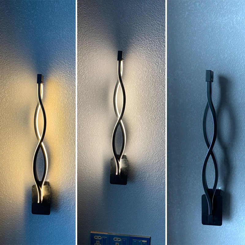 Стена в современном минималистическом стиле лампы Гостиная Спальня прикроватной тумбочке 16 W AC96V-260V светодиодный бра черный белый лампа проход освещение украшения
