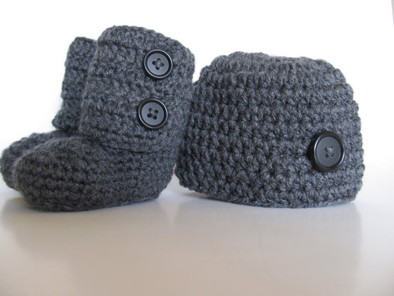 baby bootie és kalap - Bébi ruházat - Fénykép 2