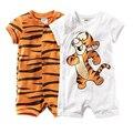 2016 Verão menina infantil e bebê estilo meninos roupas de bebê de algodão crianças lindo tigre