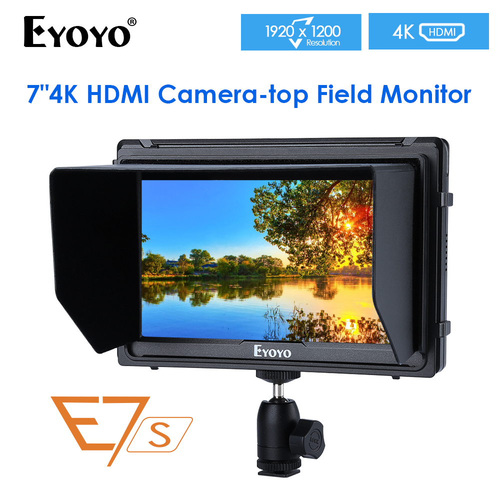 "E7S 7"" Inch SDI 4K HDMI Camera Field Monitor Full HD 1920x1200 IPS LCD Monitor Display For DSLR Cameras Stabilizer"