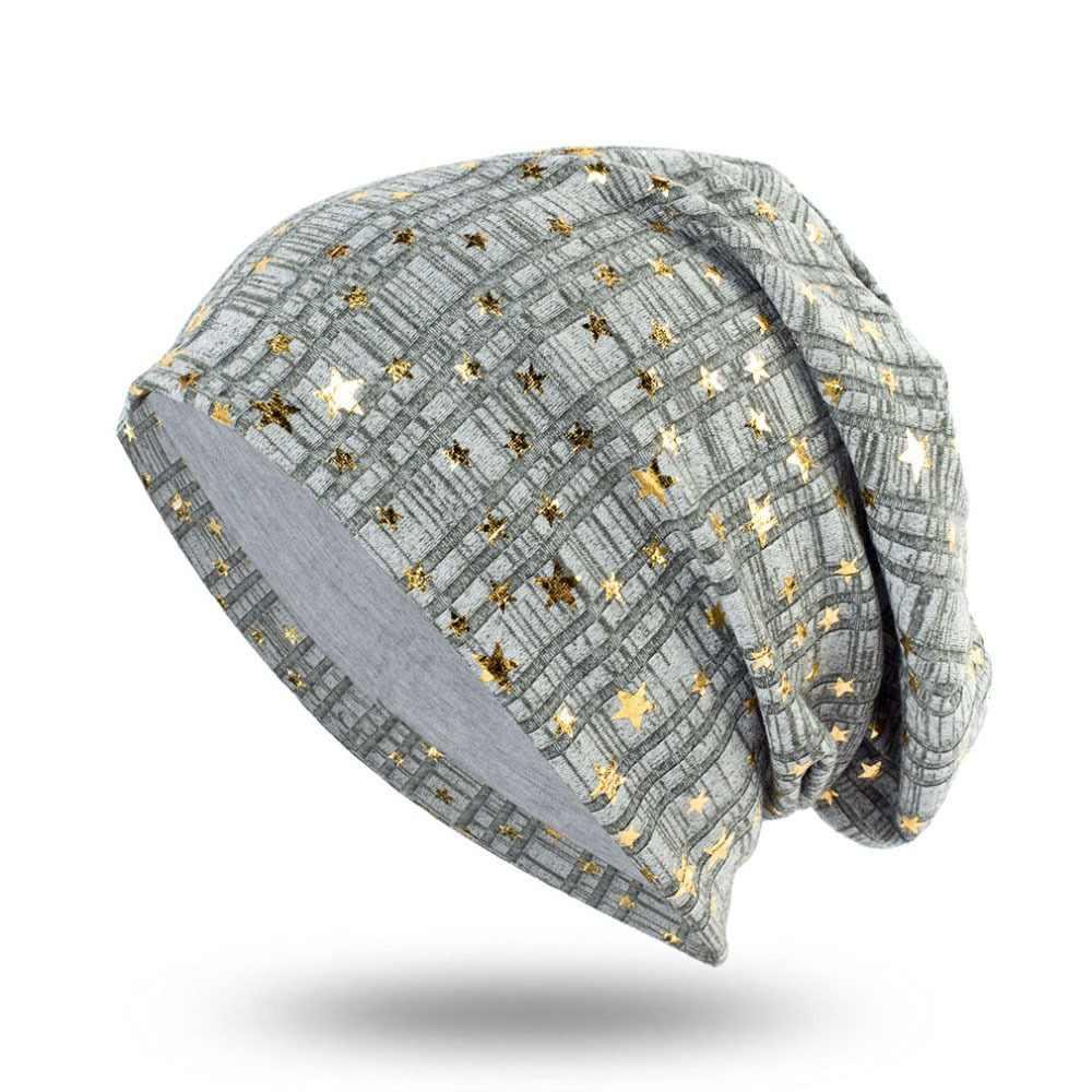 08c998794 GZHilovingL New Soft Autumn Winter Women Hats Ladies Diamond Cotton ...