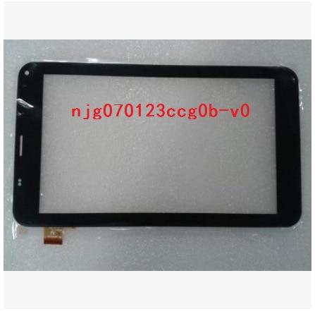 Новый 7 дюймов tablet емкостной сенсорный экран njg070123ccg0b-v0 черный бесплатная доставка