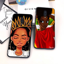 Melanin Poppin Black girls For Case Oneplus 7 6T Cover Black Soft for Funda One plus 6T 7Phone Cases for Oneplus 6T 7 1+6T Case roccat kulo 7 1 black