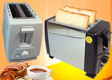 Express Free Shipping 1 PC Household Stainless Steel 2 Slices Toaster Bread Toast Machine For Breakfast With Euro Plug
