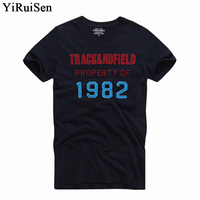 YIRUISEN Brand New York Style T Shirt Men Short Sleeve Fashion 2016 Summer White T Shirt