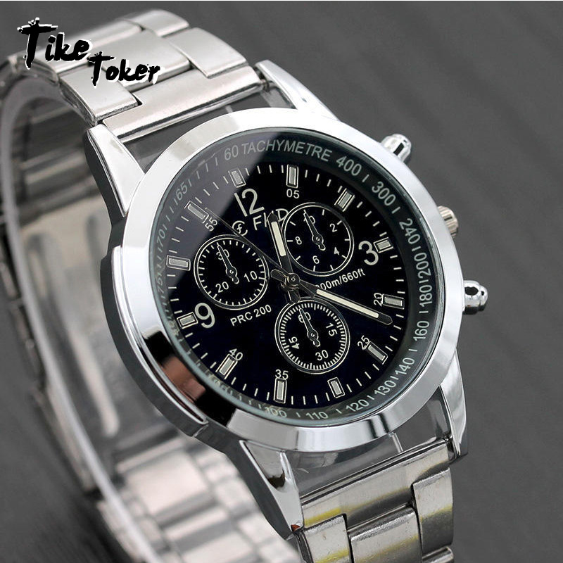 Mens Blue Ray Glass Quartz Watch 2018 New Aimecor Luxury Fashion Faux Leather Analog Watches Dropshipping 11