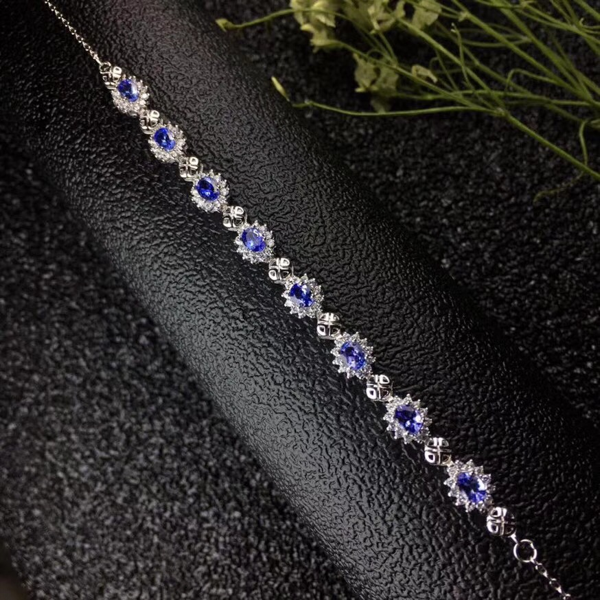 Simple gemstone, multi style and natural natural Tanzania bracelet can adjust 925 silver.Simple gemstone, multi style and natural natural Tanzania bracelet can adjust 925 silver.