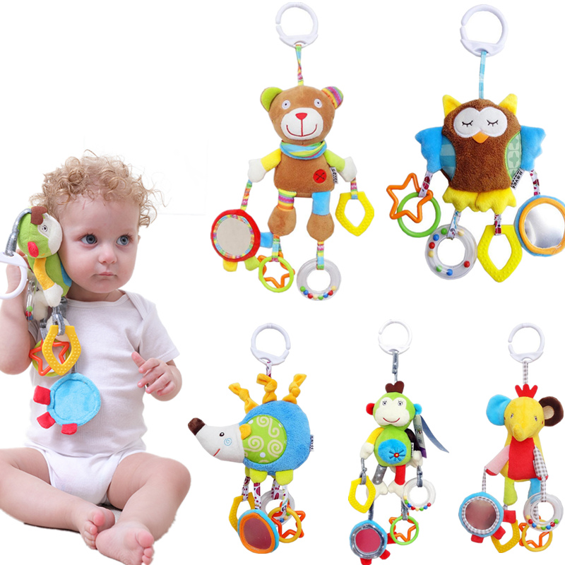 Nouveau-né Bébé Garçon Fille Mignon Coton Hochets Infantile - Jouets pour enfants