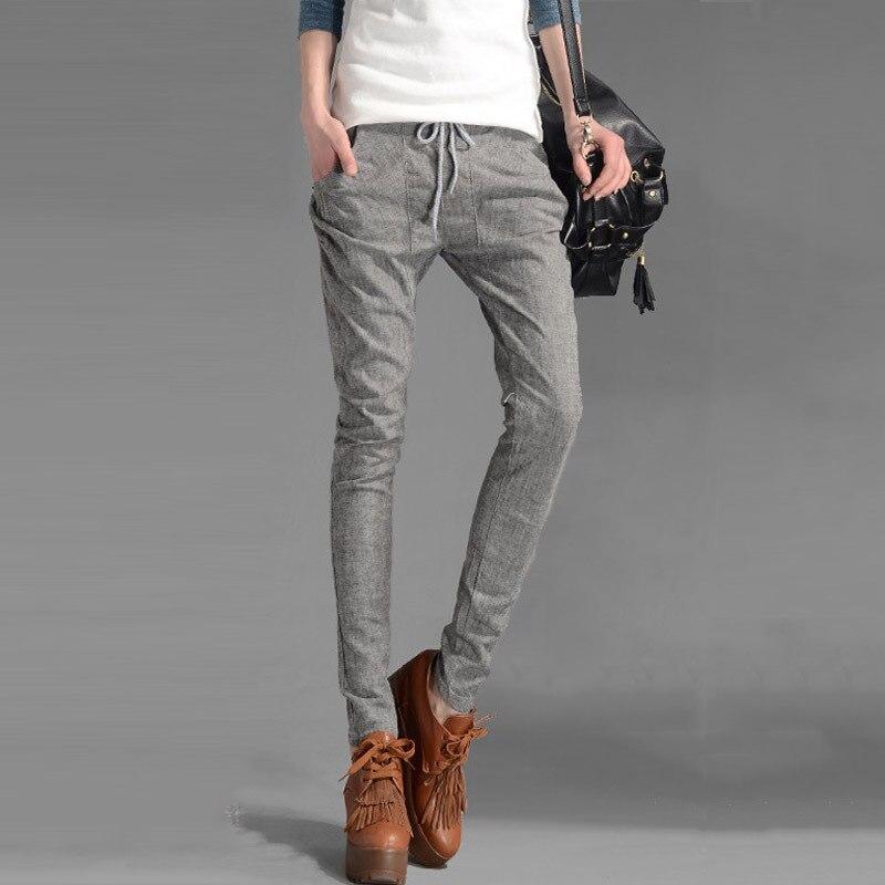 Creative Transit Viscose Linen Blend Pants In Gray | Lyst