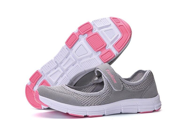 acheter populaire b7a78 ee611 € 10.18 53% de réduction|LFFZ 2018 Nouveau Printemps D'été Air Mesh Casual  Chaussures Pour Femmes Plat Espadrilles Fond Mou Respirant Maille ...