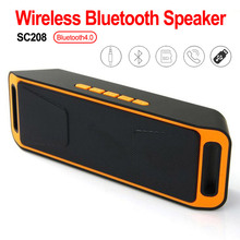 Wireless Bluetooth Speaker SC208 Computer Mini Dual Speaker Portable Small Stereo Car Subwoofer Support TF Card USB Disk wireless bluetooth speaker sc208 computer mini dual speaker portable small stereo car subwoofer support tf card usb disk