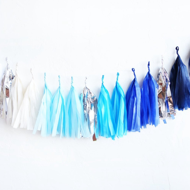 5Pcs 14inch Tissue Paper Tassels Garland For Wedding Decoration DIY Birthday Party Baby Shower Event Party Supplies
