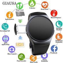 2019 New KW18+ Clock Smart Watch Android Health Tracker MTK2502c Bluetooth Notification Support SIM TF Card for Samsung Xiaomi стоимость